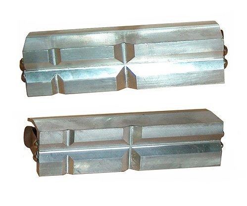 Vložky čelistí svěráku prizmatické hliník - ALCL 125