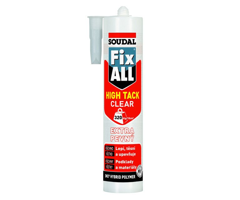 Lepidlo Fix All High Tack Clear 290ml Soudal