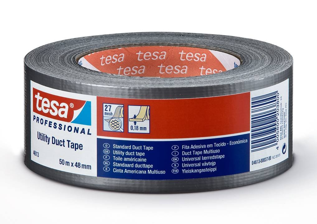 Páska montážní Tesa Duct Tape 4613 - 50m černá