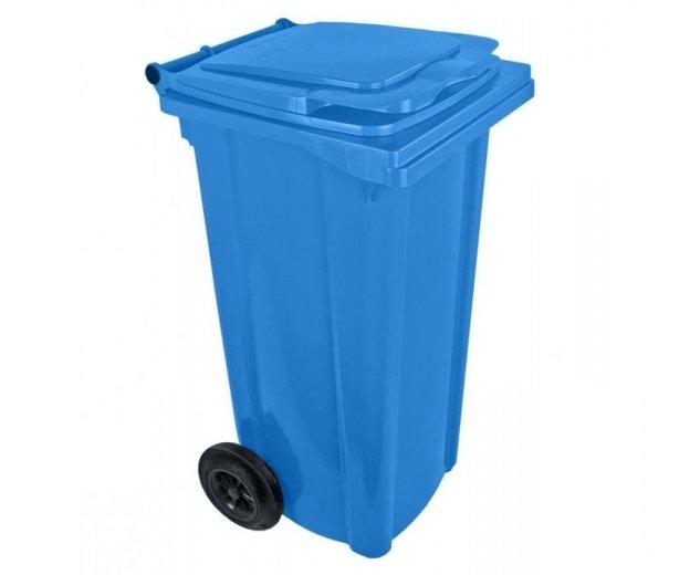 Popelnice plastová 120l s kolečky - modrá