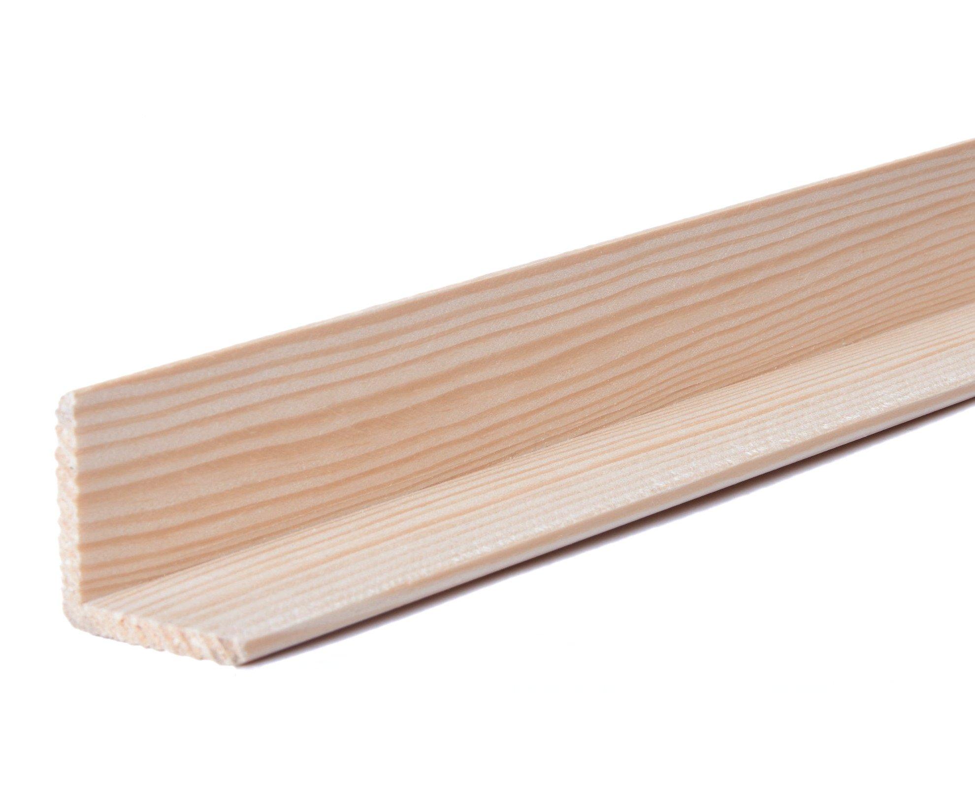 Lišta rohová vnější masiv 2m - 30x30mm