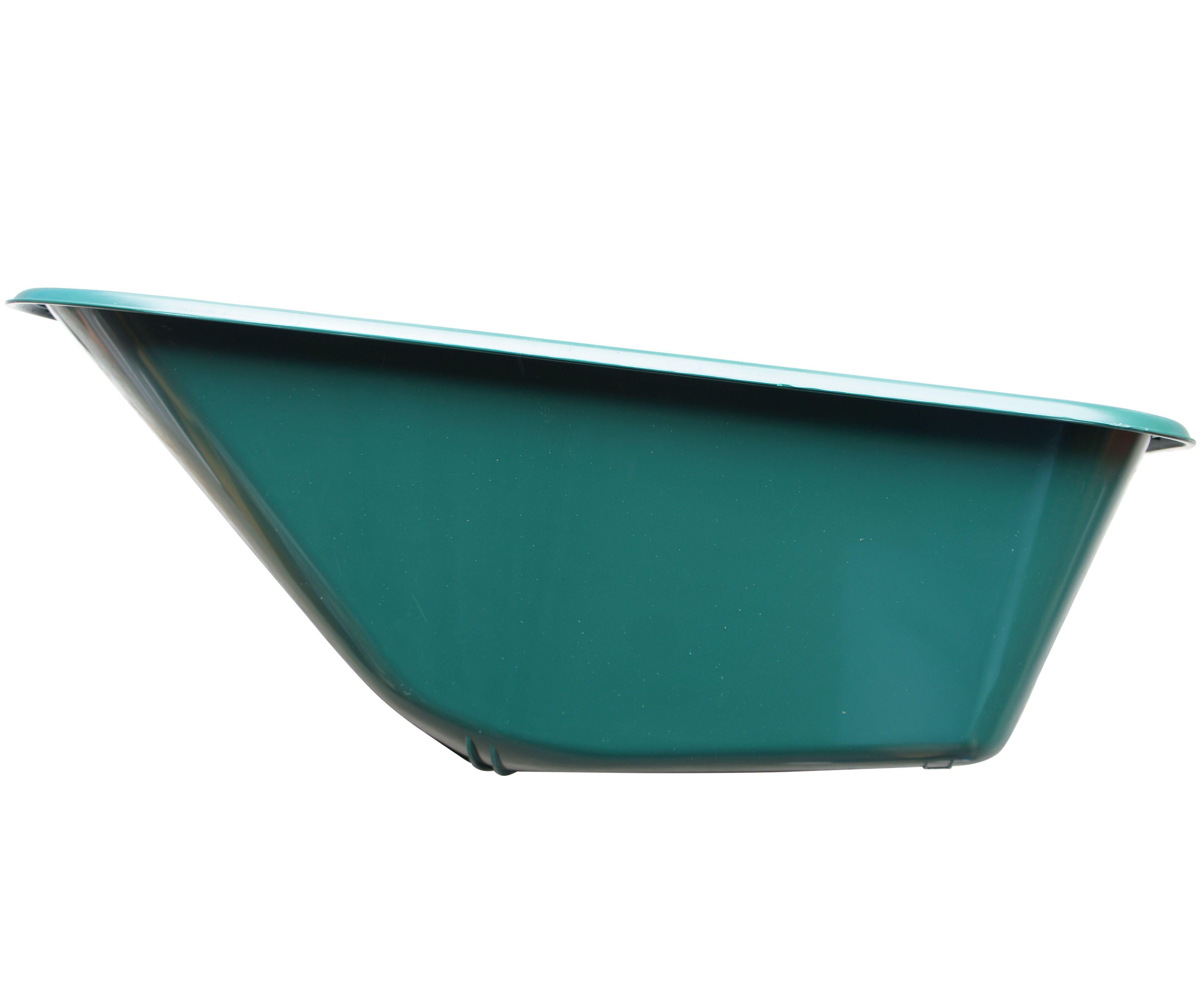 Korba ke kolečku 100l plastová - zelená