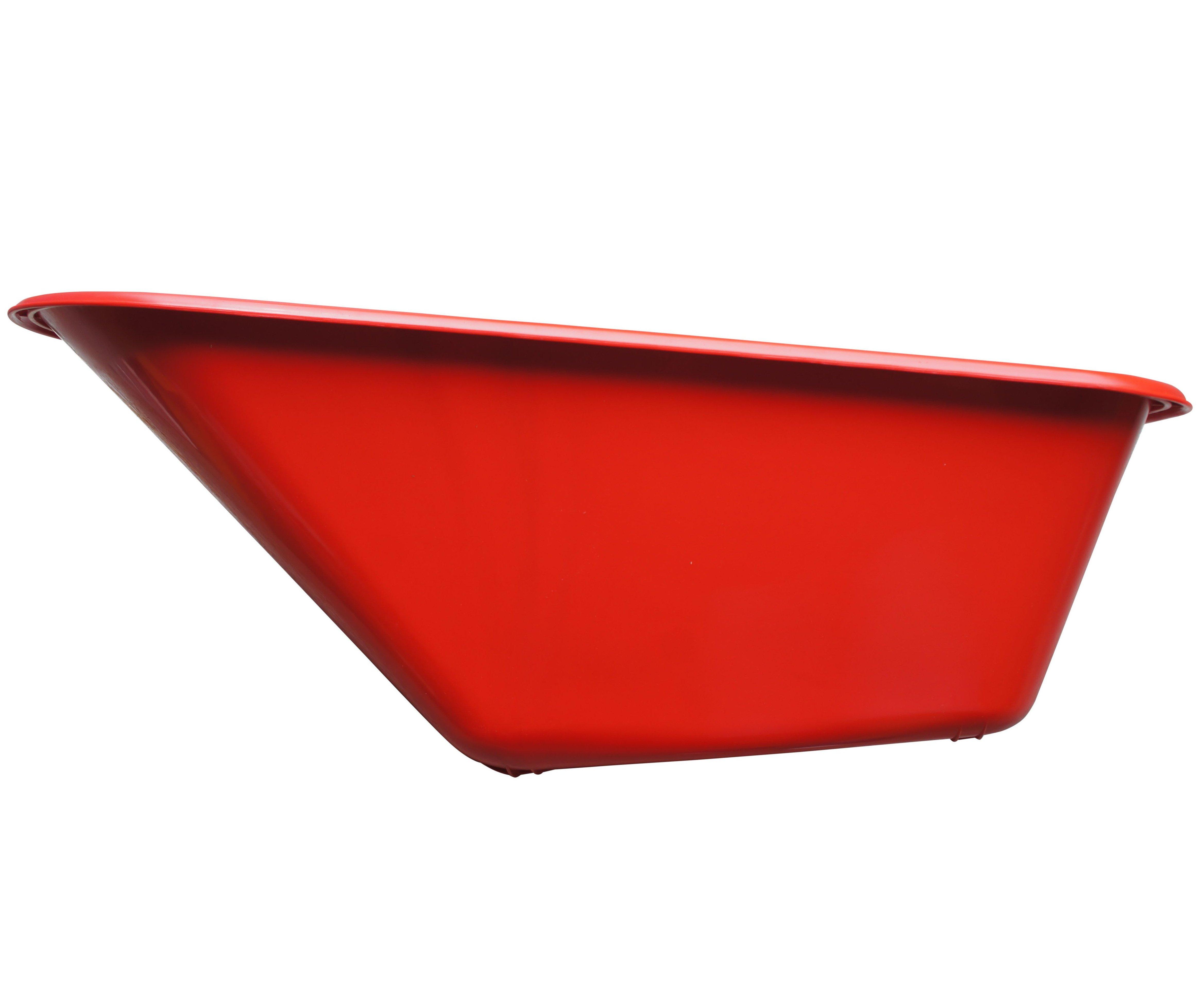 Korba ke kolečku 100l plastová - červená