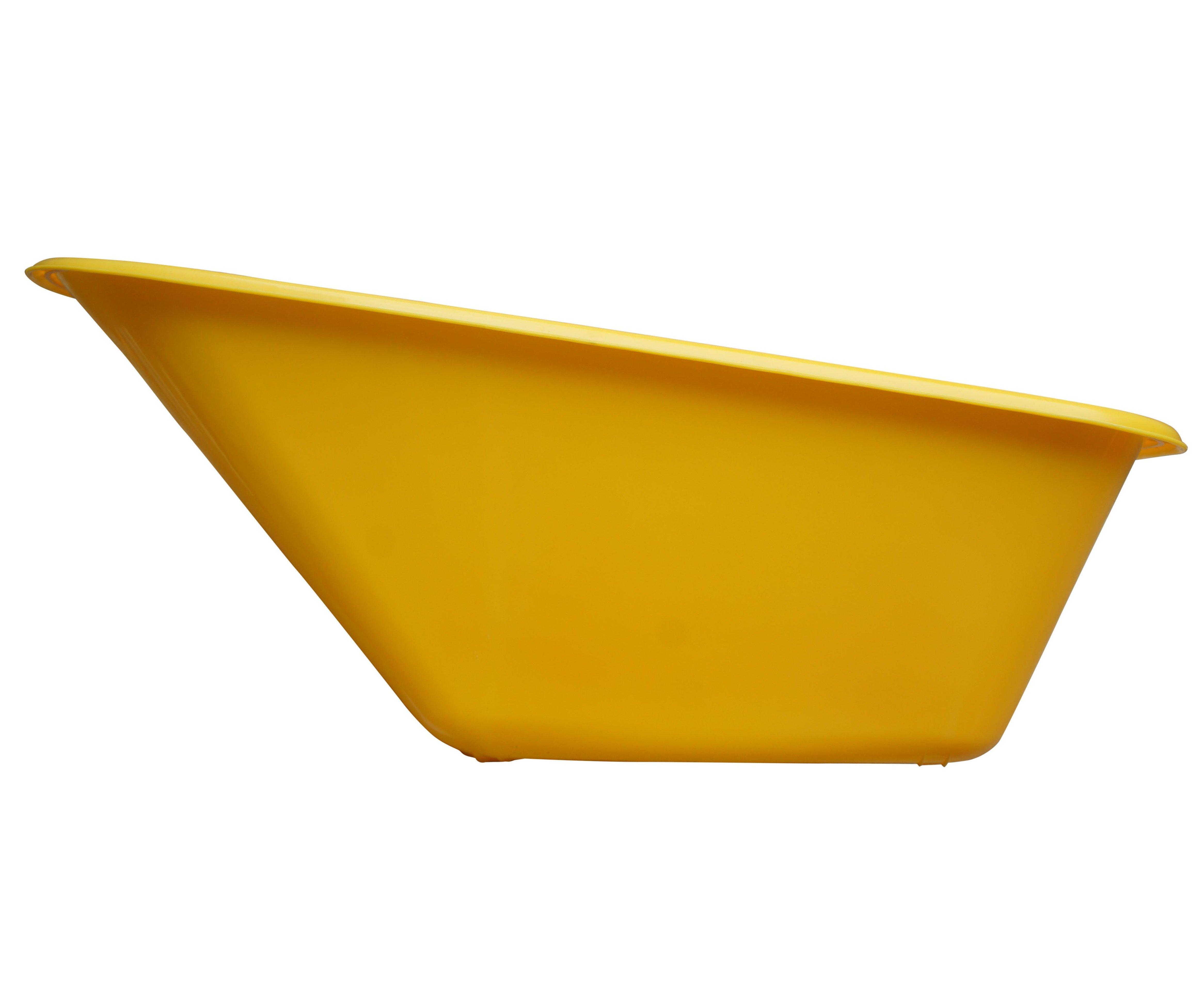 Korba ke kolečku 100l plastová - žlutá