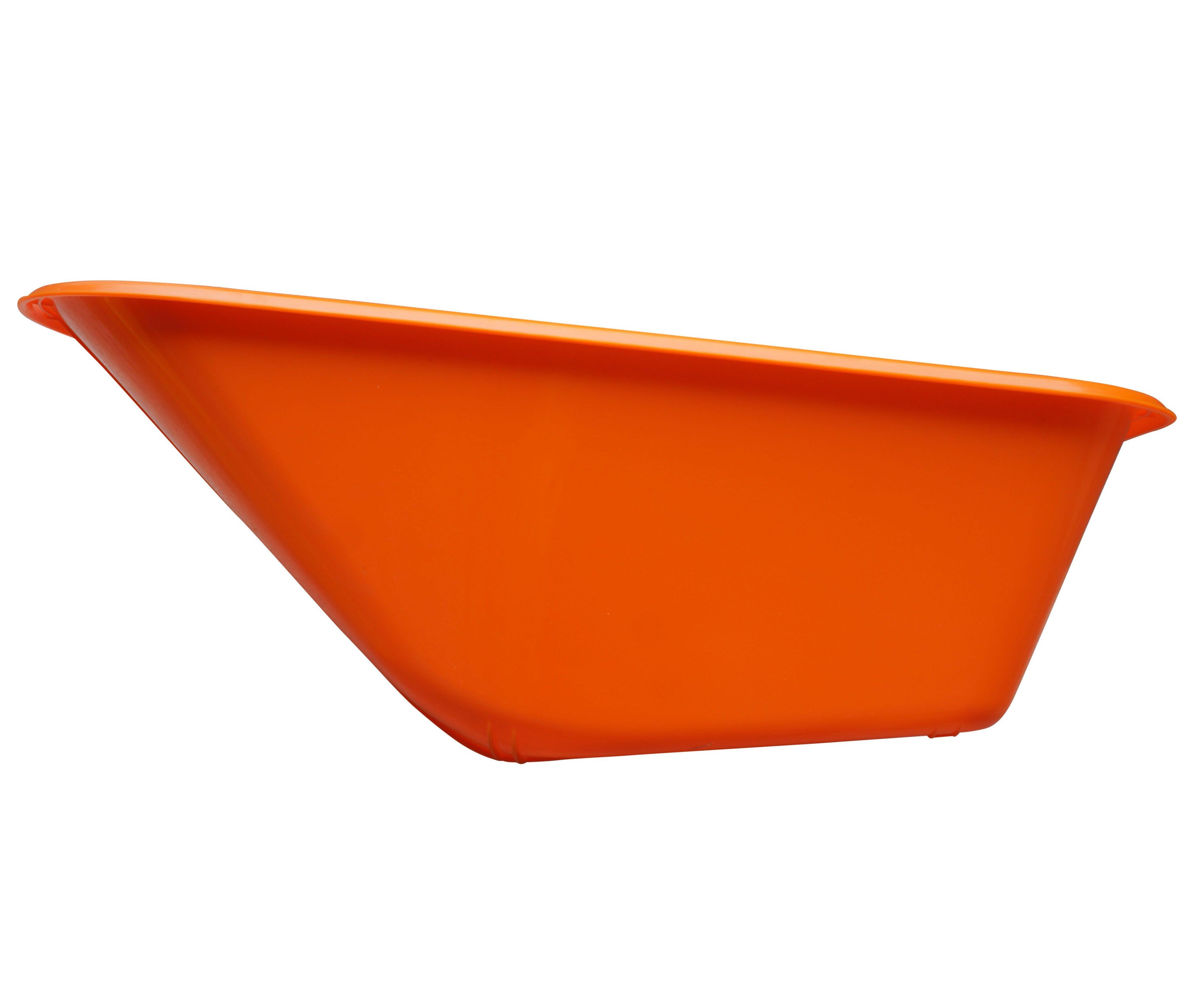 Korba ke kolečku 100l plastová - oranžová