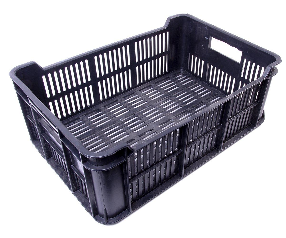 Přepravka střední černá 15 kg