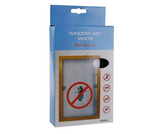 Síť okenní proti hmyzu bílá samolepicí - 150x90cm
