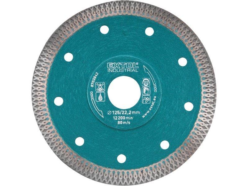 Kotouč diamantový řezný Turbo Thin Cut Extol Industrial - 8703041 115x1,5x22,2mm
