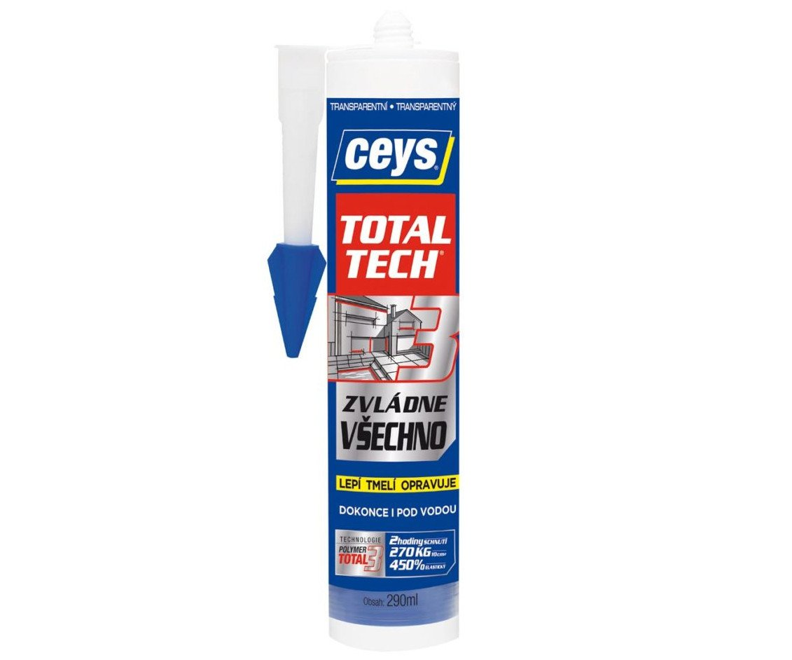 Lepidlo Ceys Total Tech - 290ml transparentní