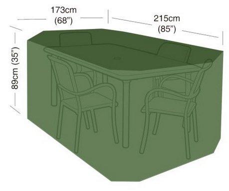 Plachta krycí na zahradní nábytek - 215x173x89cm