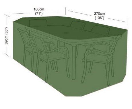 Plachta krycí na zahradní nábytek - 270x180x89cm