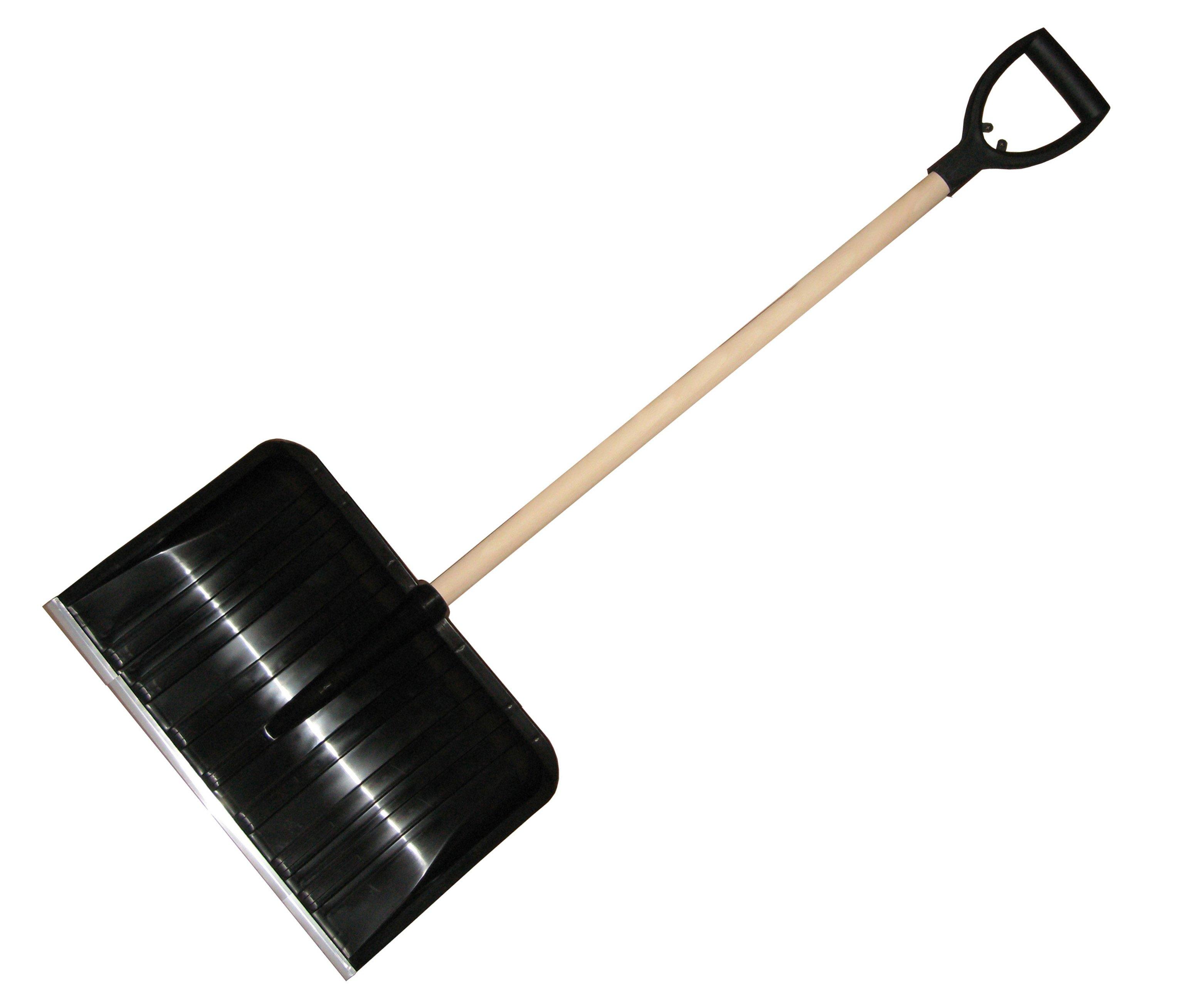 Hrablo plast 50cm černé dřevěná násada Plastkon