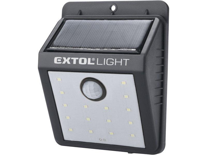 Reflektor LED solární s čidlem 120lm Extol Light 43130