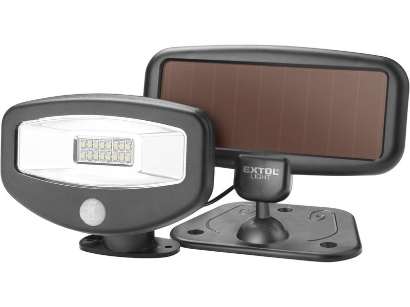 Reflektor LED solární s čidlem 100lm Extol Light 43270
