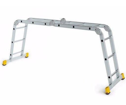 Alve kloubový hliníkový žebřík Forte čtyřdílný - 4x3 příčky Forte 4410