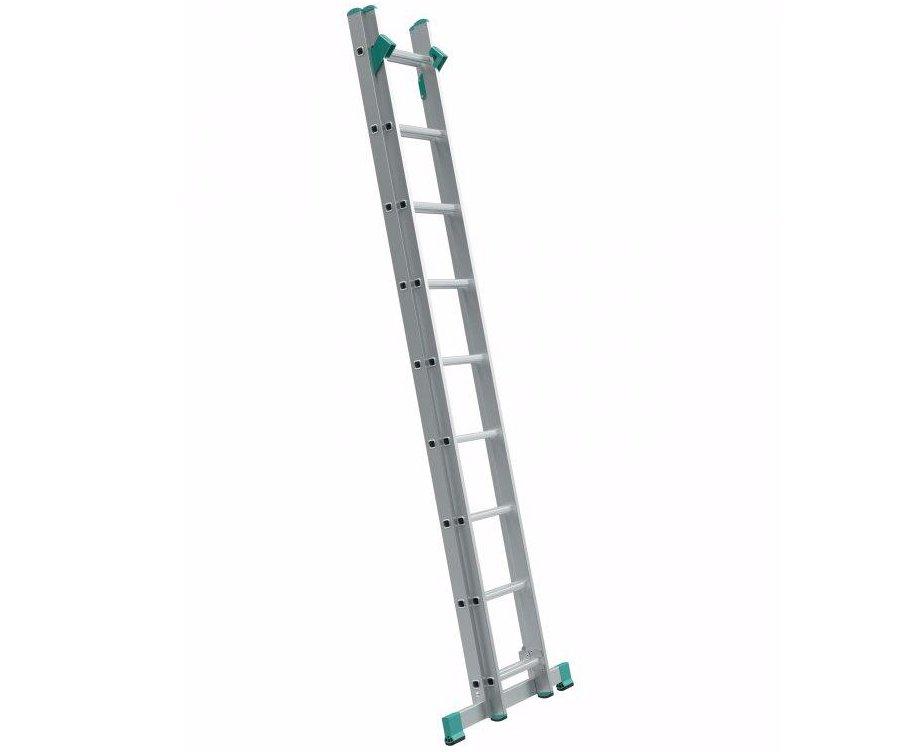 Alve Eurostyl dvoudílný univerzální žebřík s úpravou na schody - 2x9 příček 428cm Eurostyl 7709 Alve
