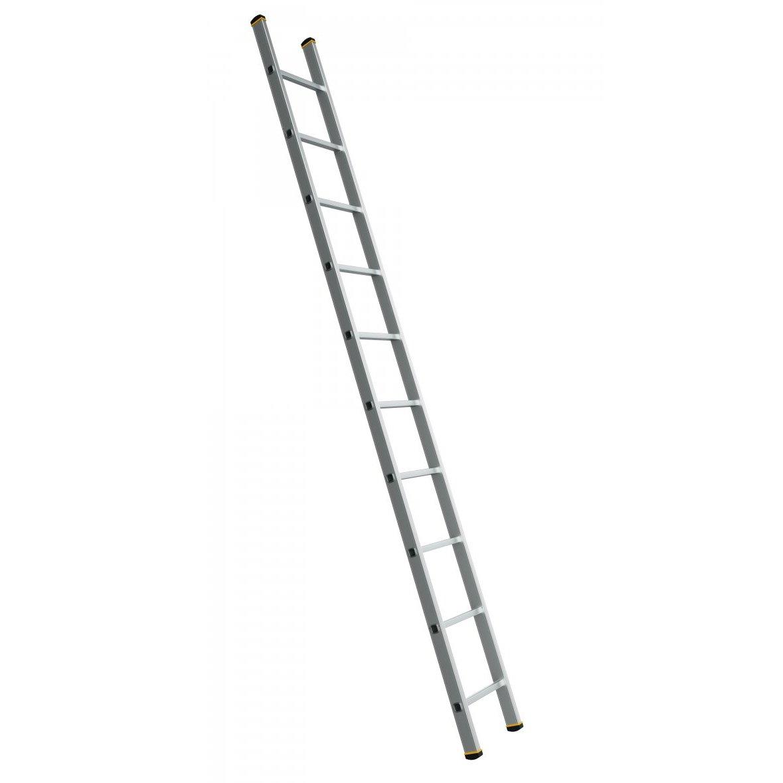 Alve Forte jednoduchý opěrný hliníkový žebřík - 1x10 příček 297cm FORTE 8110