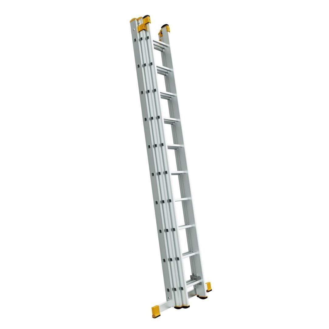 Alve Forte trojdílný univerzální hliníkový žebřík - 3x15 příček FORTE 8615