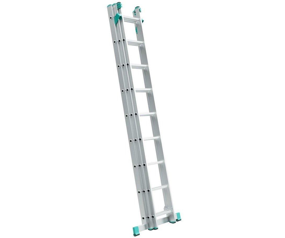 Alve Eurostyl trojdílný hliníkový žebřík s úpravou na schody, univerzální - 3x7 příček Eurostyl 7807 Alve