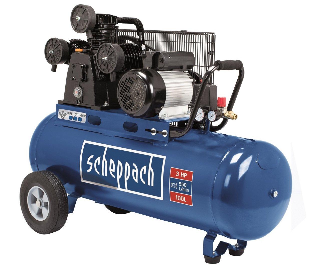 Scheppach HC 550 TC tříválcový olejový kompresor Scheppach