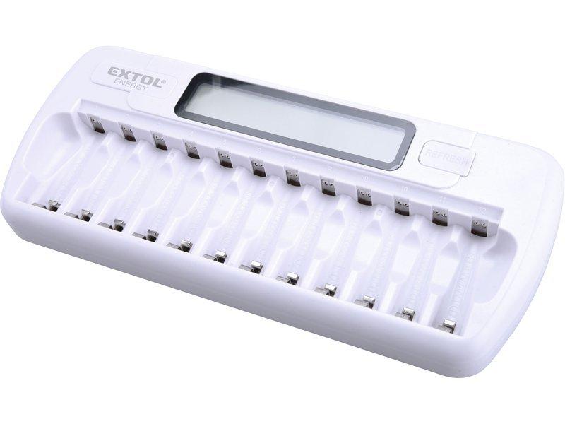 Nabíječka inteligentní AA+AAA 12 slotů Extol Energy 42081