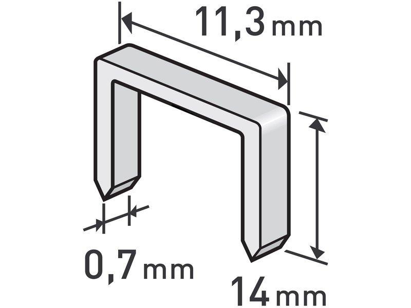 Spony 1000ks 11,3x0,52x0,7mm extra tvrdé Extol Premium - 14mm
