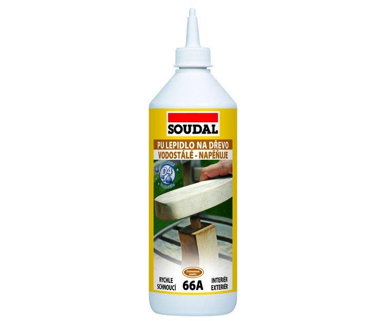 Lepidlo na dřevo 66A PU Soudal - 750g
