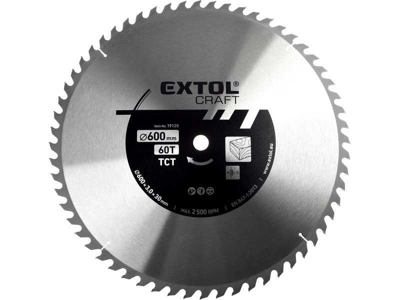 Kotouč pilový s SK plátky Extol Craft - 600x3x30mm 60z