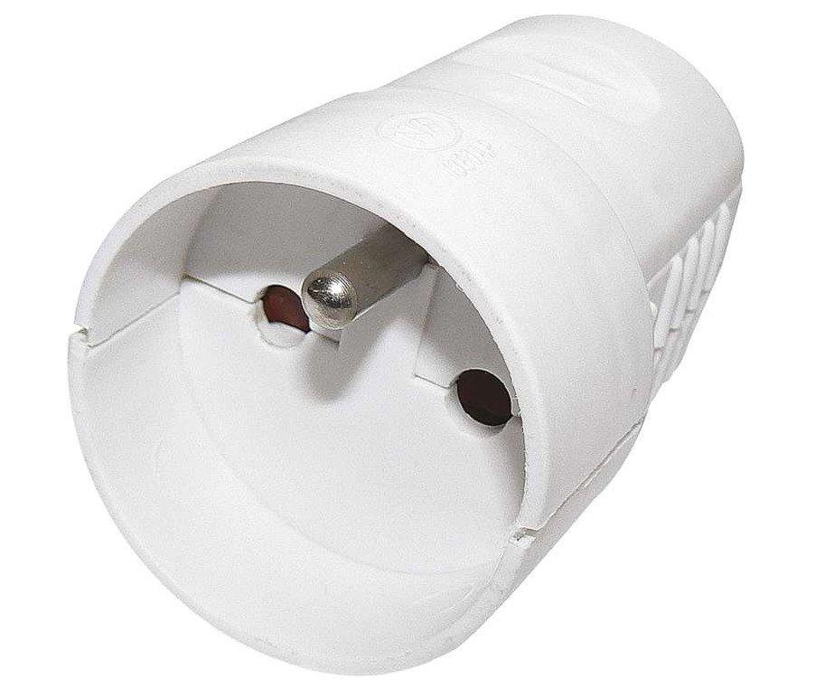Zásuvka spojovací bílá 250V/16A