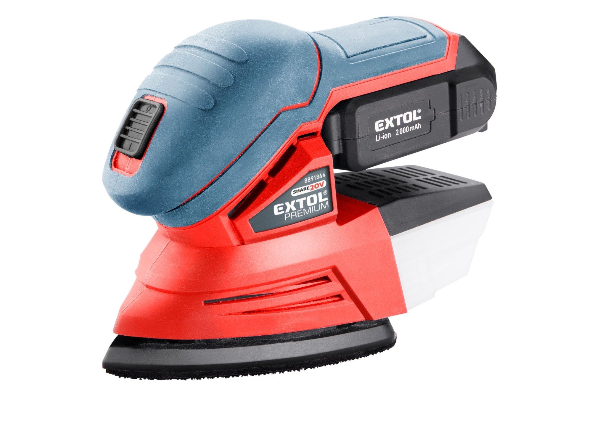 Extol Premium 8891844 SHARE20V aku vibrační bruska 1x2Ah