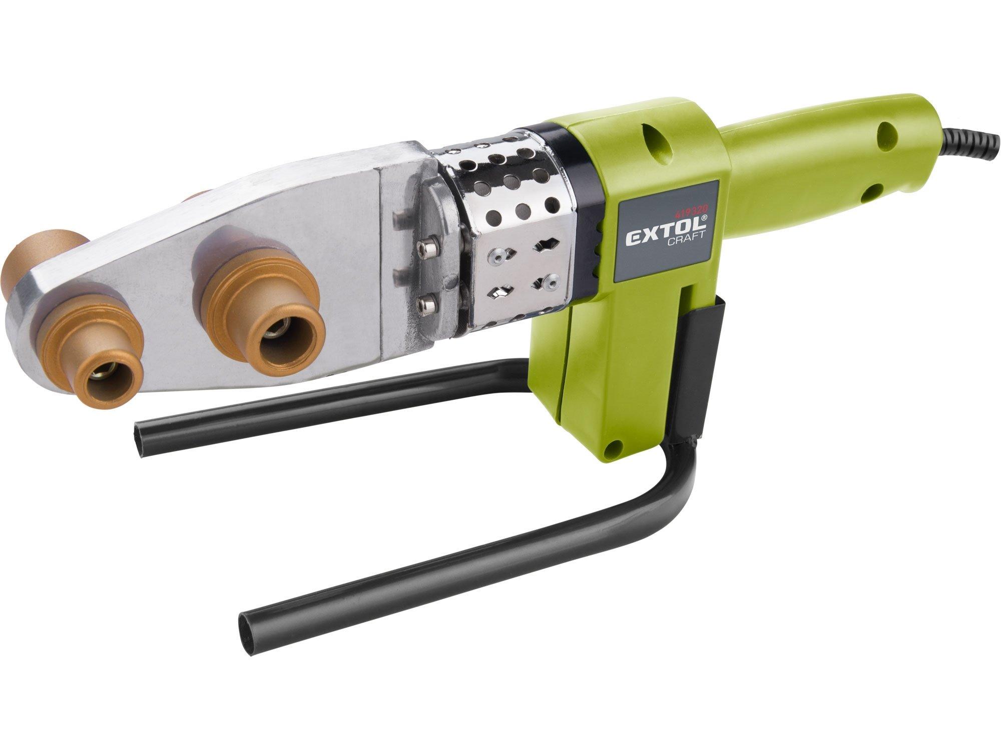 Extol Craft 419320 svářečka polyfúzní nožová 3x nástavec v kufru