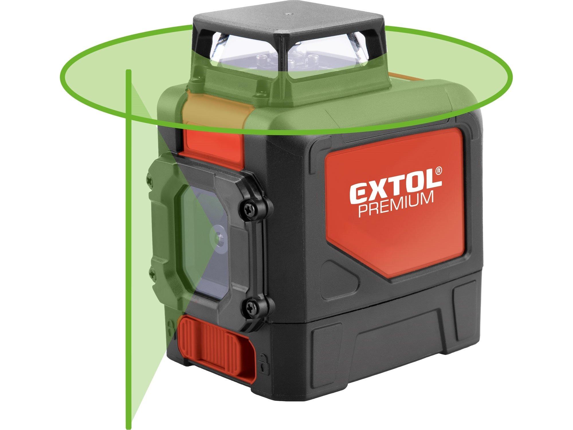 Laser křížový 360° zelený Extol Premium 8823307