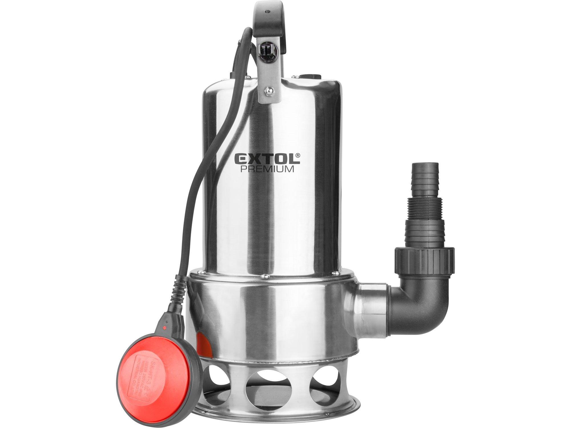 Extol Premium 8895016 ponorné kalové čerpadlo nerez 1100W