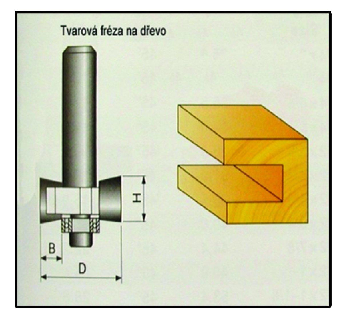E-shop Fréza tvarová do dřeva F12 - 9,4x12mm