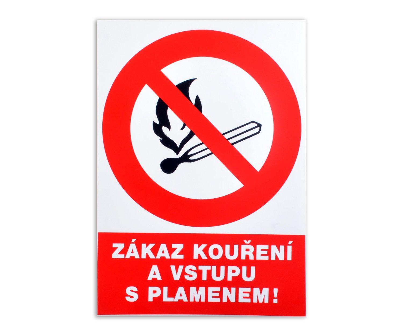 Tabulka Zákaz kouření a vstupu s plamenem