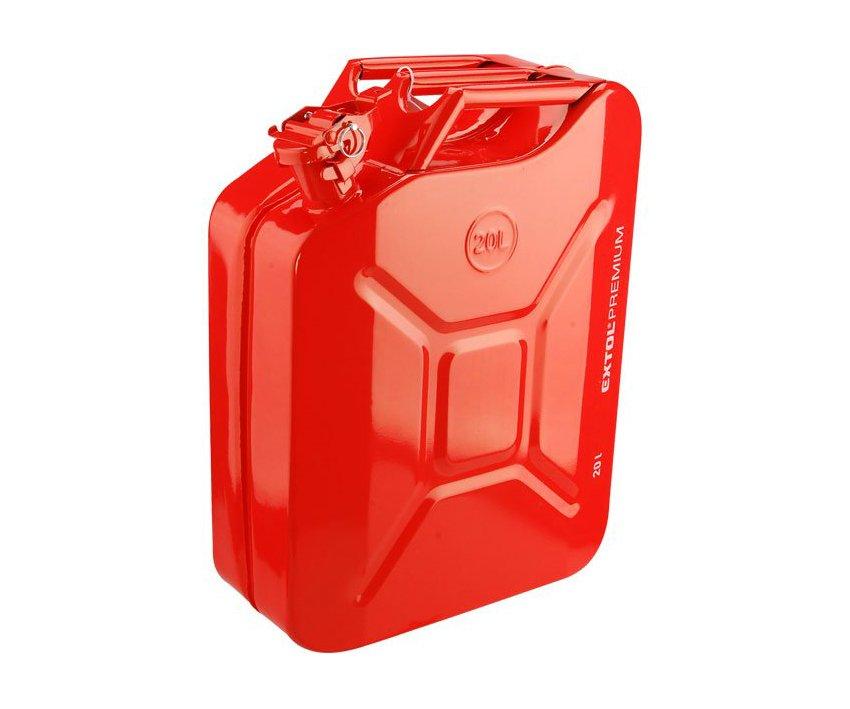 Kanystr na benzín kovový 20l Extol Premium 8863200
