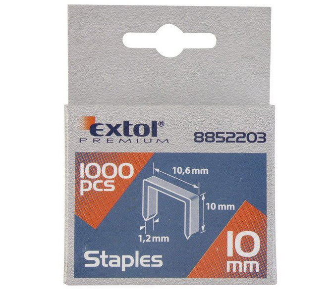 Spony 1000ks 10,6x0,52x1,2mm Extol Premium - 12mm