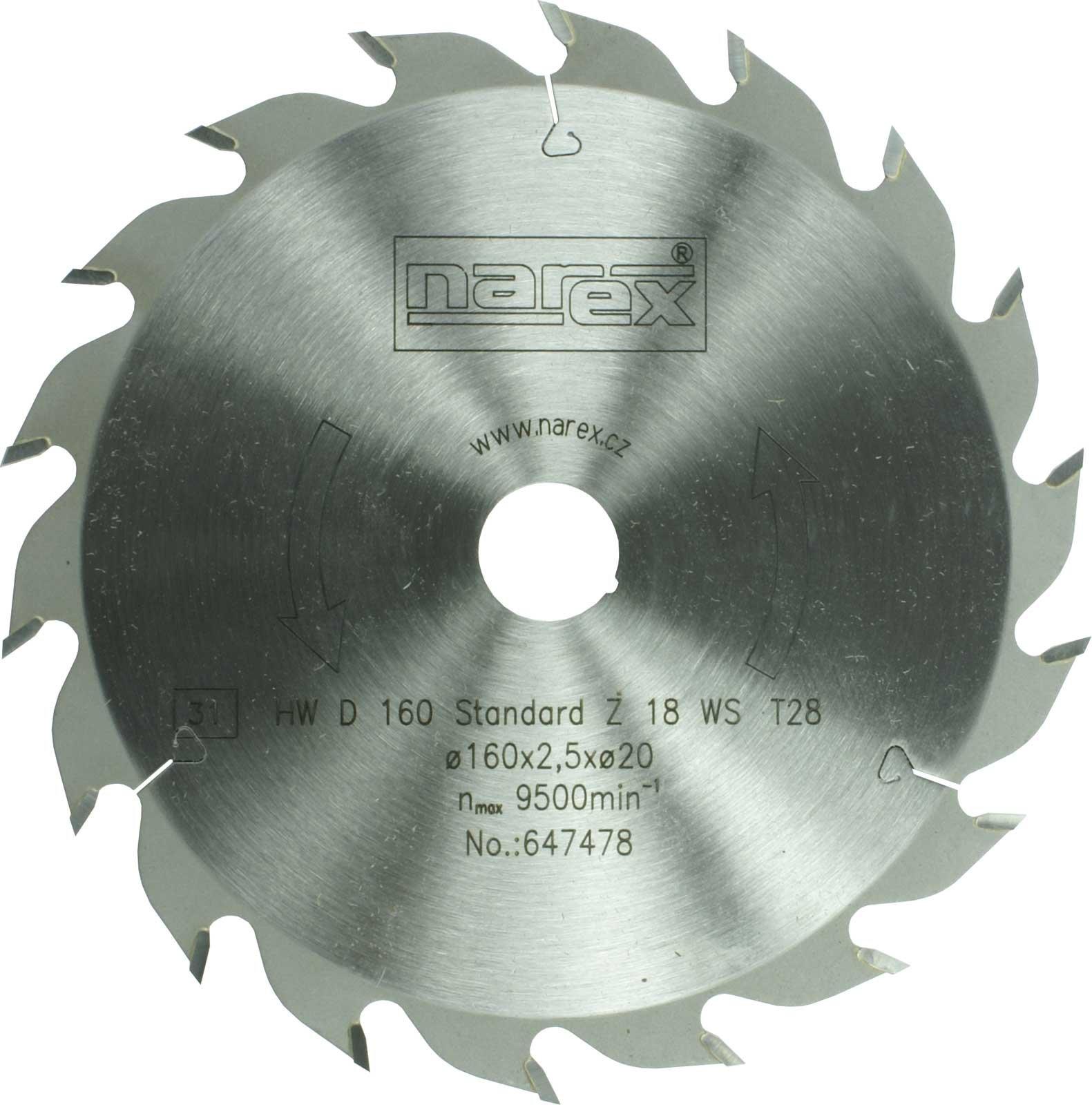Kotouč pilový 160x2.5x20/18 Standard HW Narex
