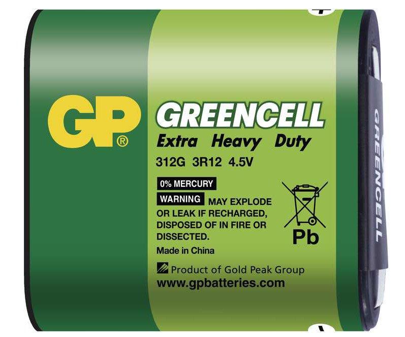 Baterie GP Greencell 3R12 4,5V (plochá)