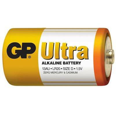 Baterie GP Ultra Alkaline LR20 (D, velké mono)