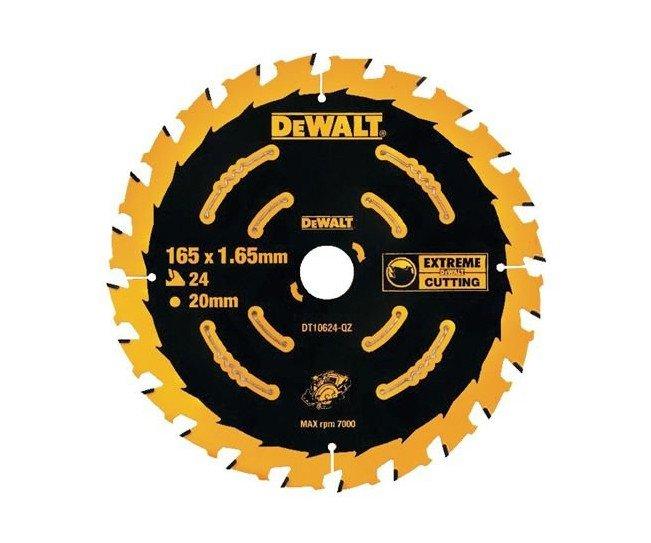 DeWalt kotouč pro aku pily 165x20mm - DT10624 Kotouč 165x20 24z pro aku pily