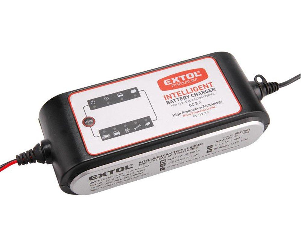 Autonabíječka 12/6V 8A Extol Premium 8897301
