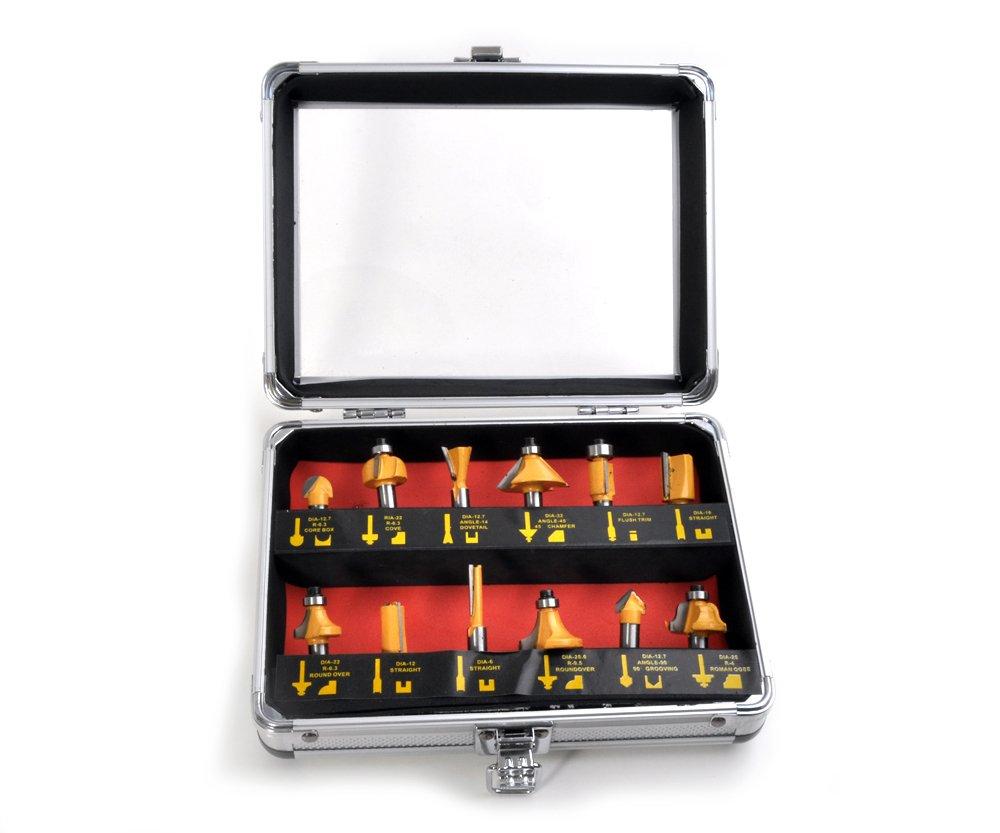 Sada tvarových fréz 8mm SK plátky 12ks + kufr Extol Craft 44037