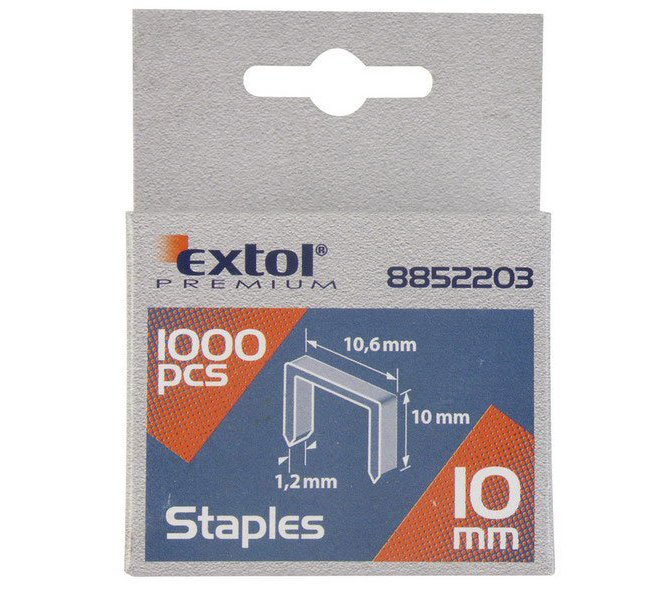 Spony 1000ks 11,3x0,52x0,7mm extra tvrdé Extol Premium - 12mm