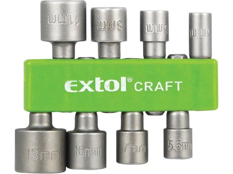"""Sada bitů nástrčných 1/4"""" 8ks 5-13mm Extol Craft 10213"""