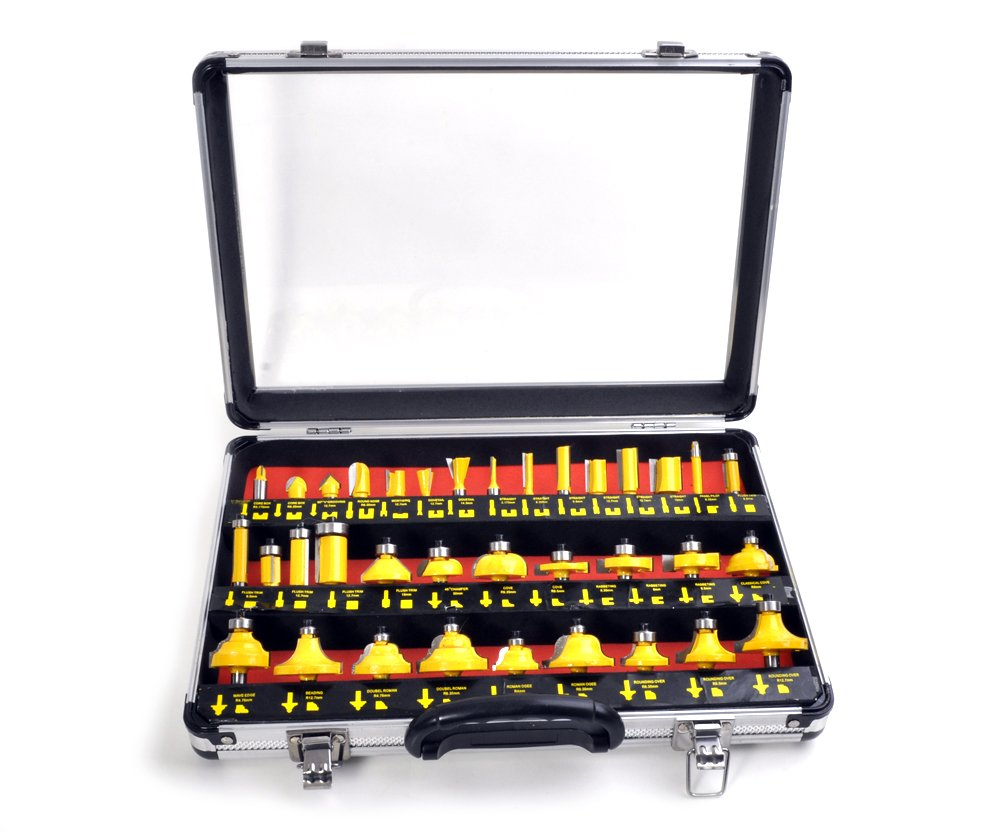 Sada tvarových fréz 8mm SK plátky 35ks + kufr Extol Premium 44040