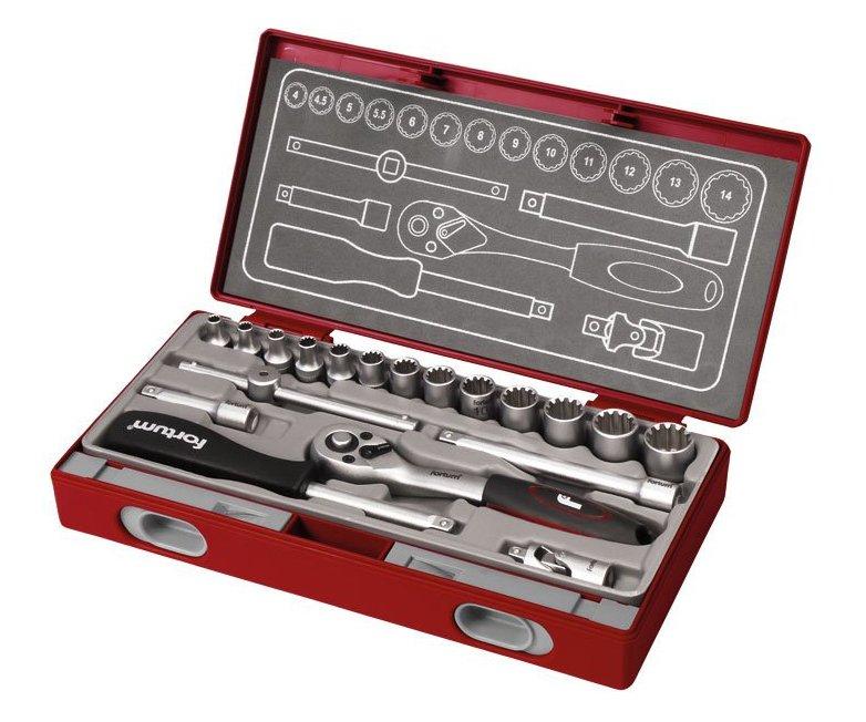 Klíče nástrčné Multi-Lock 19ks Fortum 4700031