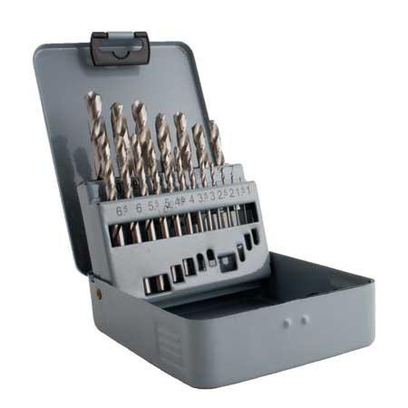 Sada vrtáků do kovu HSS-G vybrušovaných 19ks 1-10/0,5mm kovová kazeta