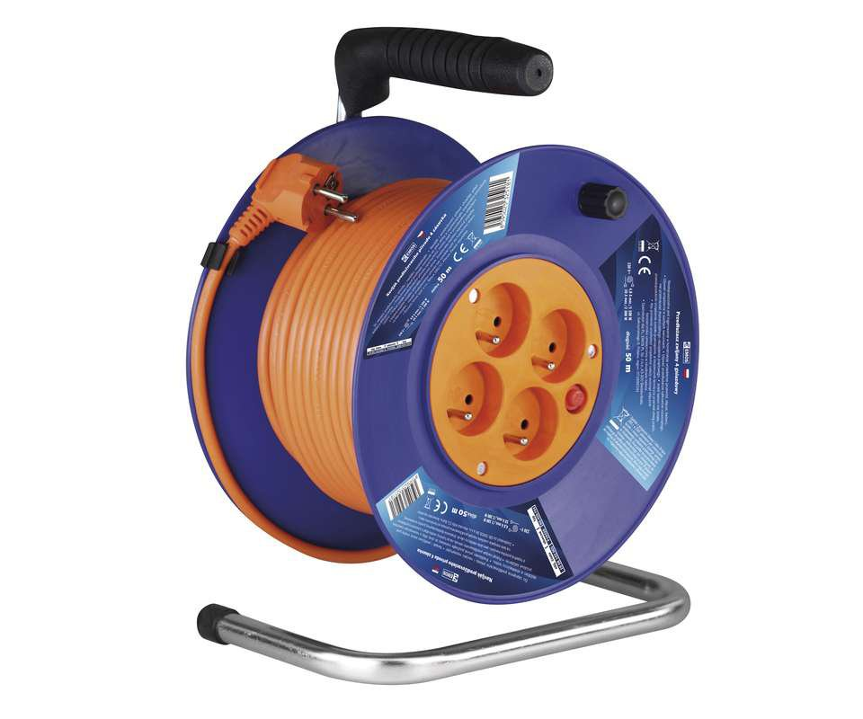 Šňůra prodlužovací na bubnu 4 zásuvky - 25m 3x1.5