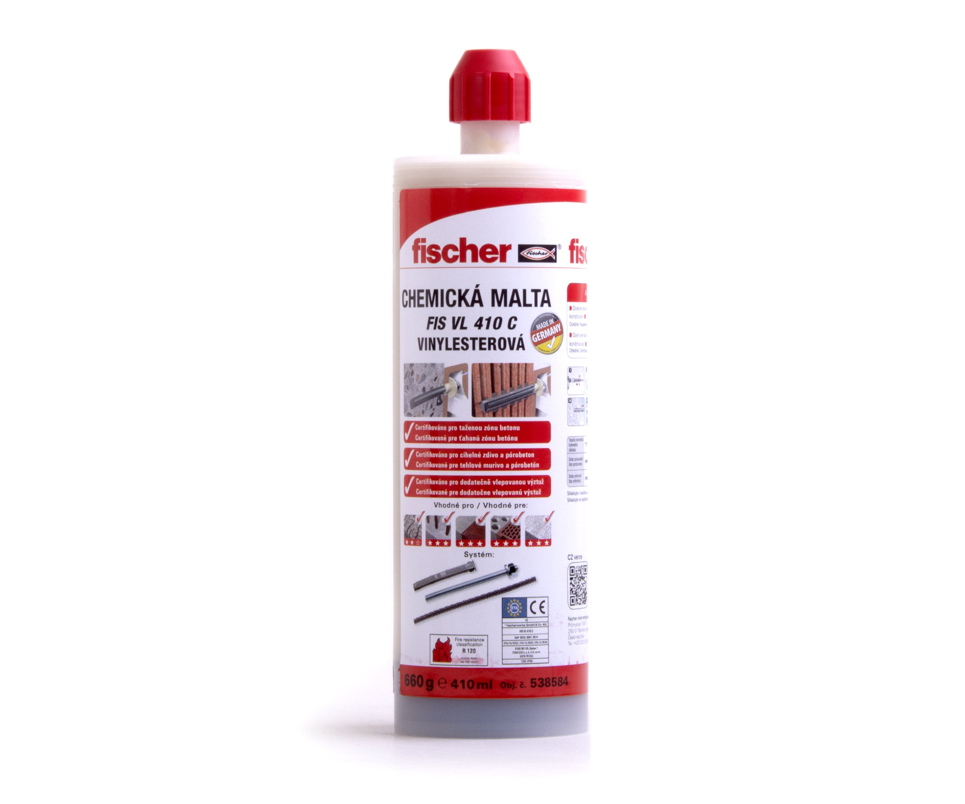 Chemická malta FIS VL 410 C Fischer